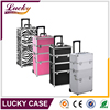 Hot sale professional aluminum trolley case beauty case cosmetic display case