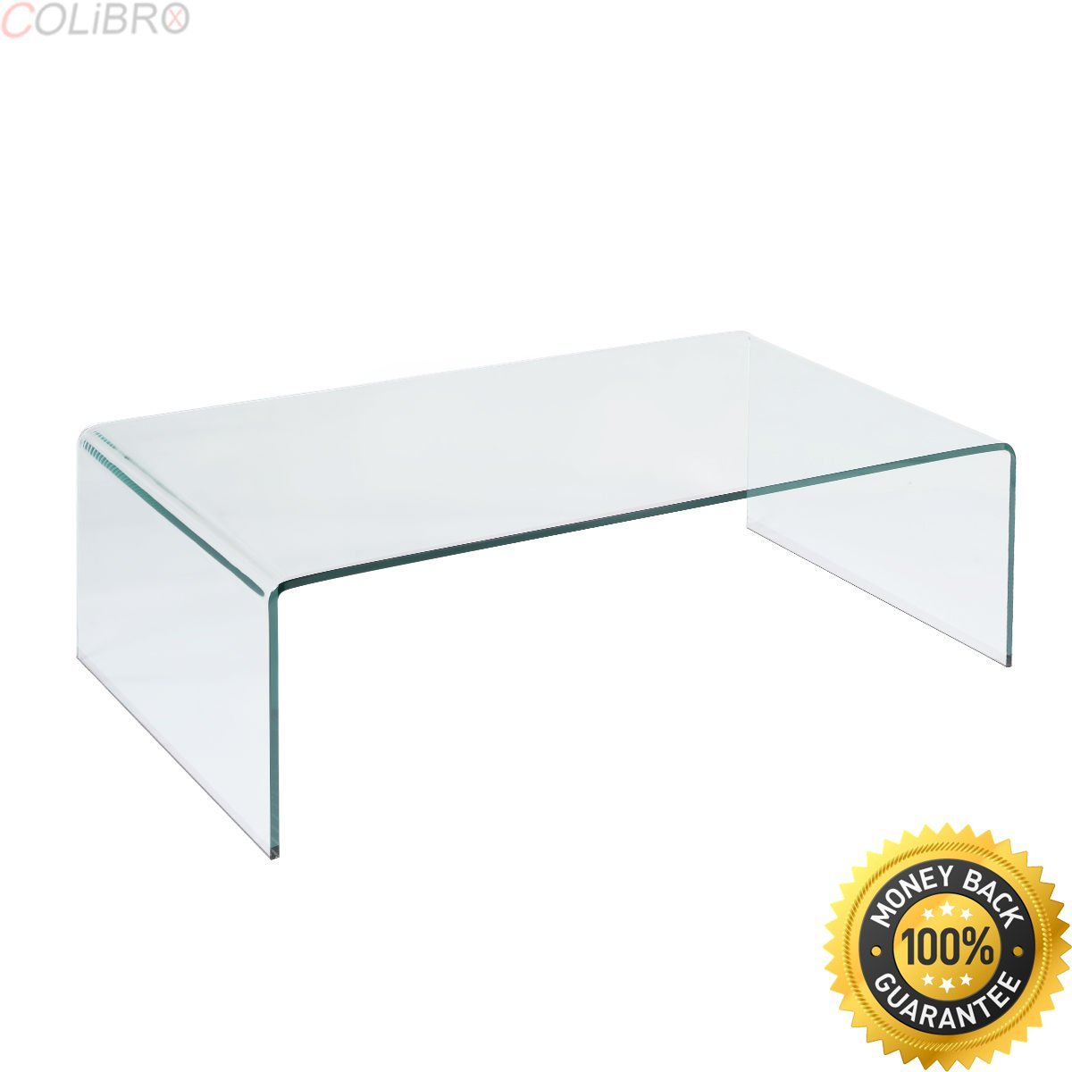 COLIBROX--Tempered Glass Coffee Table Accent Cocktail Side Table Living Room Furniture New. all glass coffee table. square glass coffee table. coffee table glass top amazon.modern glass coffee table.