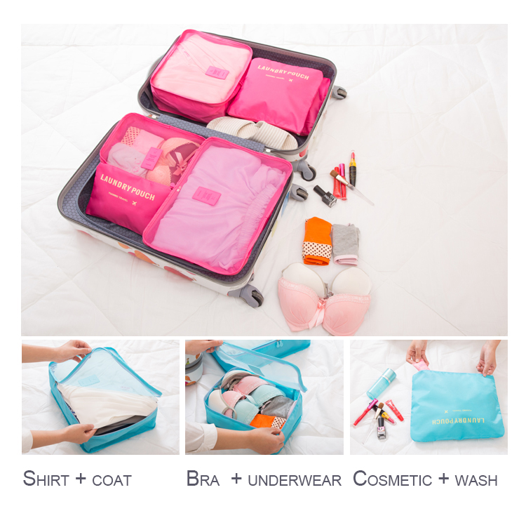 custom Travel accessories travel organizer packing cubes clothes travel storage