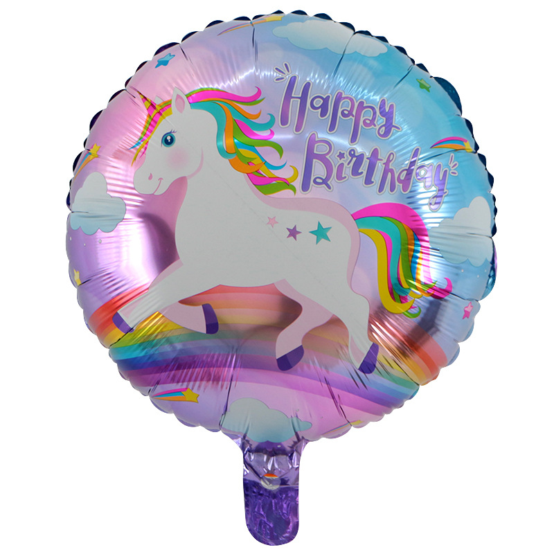 18inch Happy Birthday Party Decoration Little Horse Foil Unicorn Pony Balloons Wedding/Halloween/Christmas Decoration