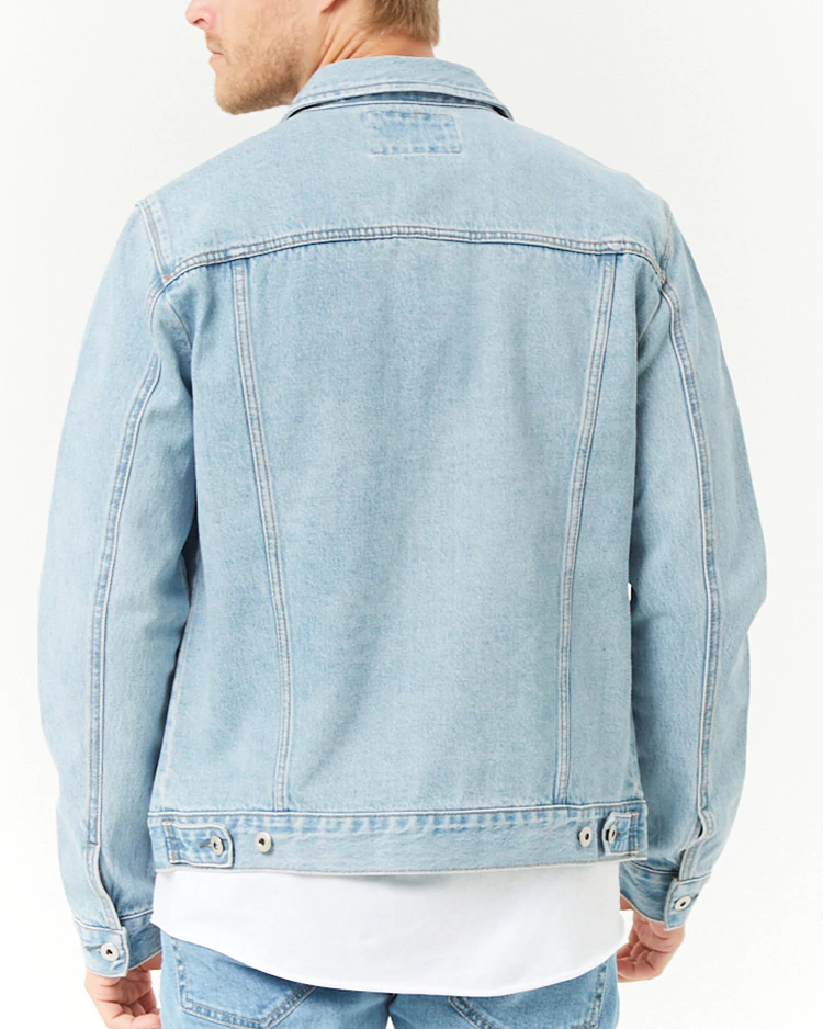 wholesale High Quality Mens Cotton jeans Jacket custom Mens denim Jacket