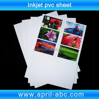 White Inkjet Printing Pvc Sheet For Plastic Pvc Card A4 Size 210 ...