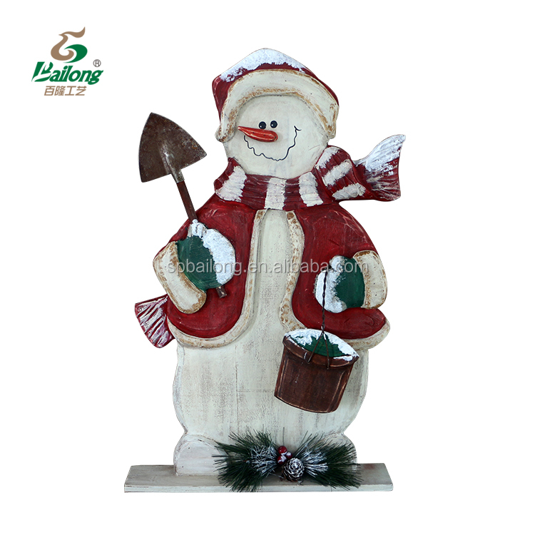 15 years factory snowman wooden Christmas decoration