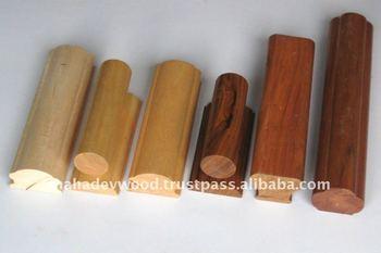 A un precio econ mico pasamanos de madera para escaleras - Precios de escaleras de madera para casas ...
