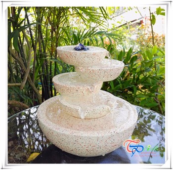 Resin Mini Tabletop Waterfall Bowls Water Fountain