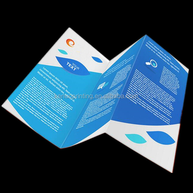 Manufactory lowest price unique 250gsm glossy lamination art paper accordion fold brochure printing with pocket brochures