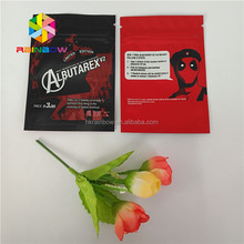 Mylar foil botanical extract male sex powder capsule packaging sachet bags