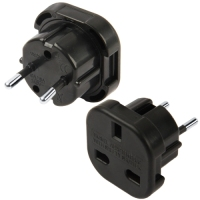 High Quality UK Plug to EU Plug AC Wall Universal Travel Power Socket Plug Adaptor (Black)