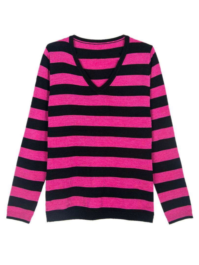 Get Quotations · Fashion Chokingwomen s red and black Striped V Neck Sweater  Winter Long Sleeve Knitted Pullovers CJGP0001 ce3c9dd87