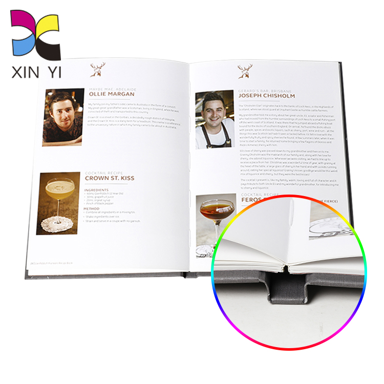 Wholesale bulk cheap custom luxury hardcover story journal book printing