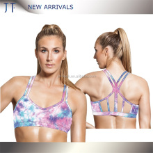 Top selling customized sports bra polyester spandex breathable sports bra wholesale