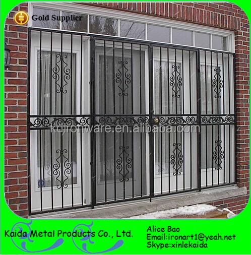 Popular Decorative Wrought Iron Metal Window Grill Design