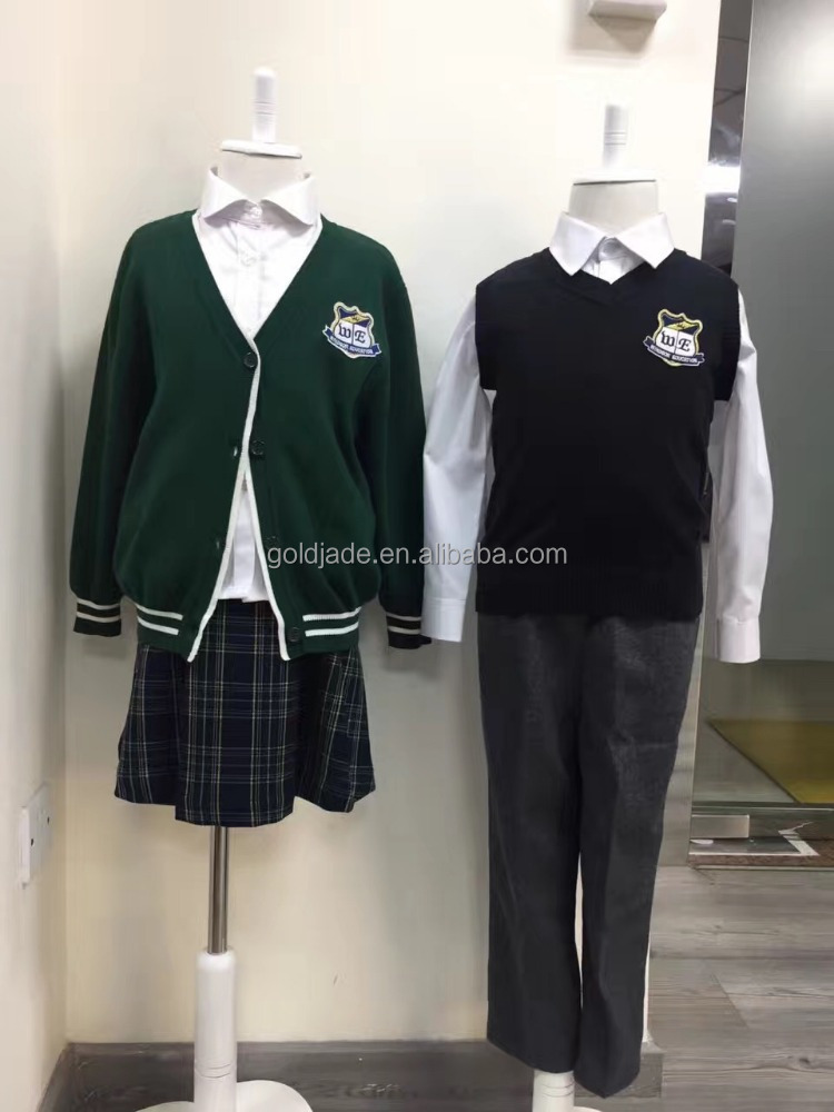 kids knit school vest school uniform knitted pullover sweaters school cardigan
