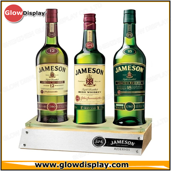 China Wholesale Wood 3 Bottles Display - Buy Jameson Whiskey Bottle  Display,Jameson Whiskey Bottle Rack,Jameson Whiskey Bottle Stand Product on