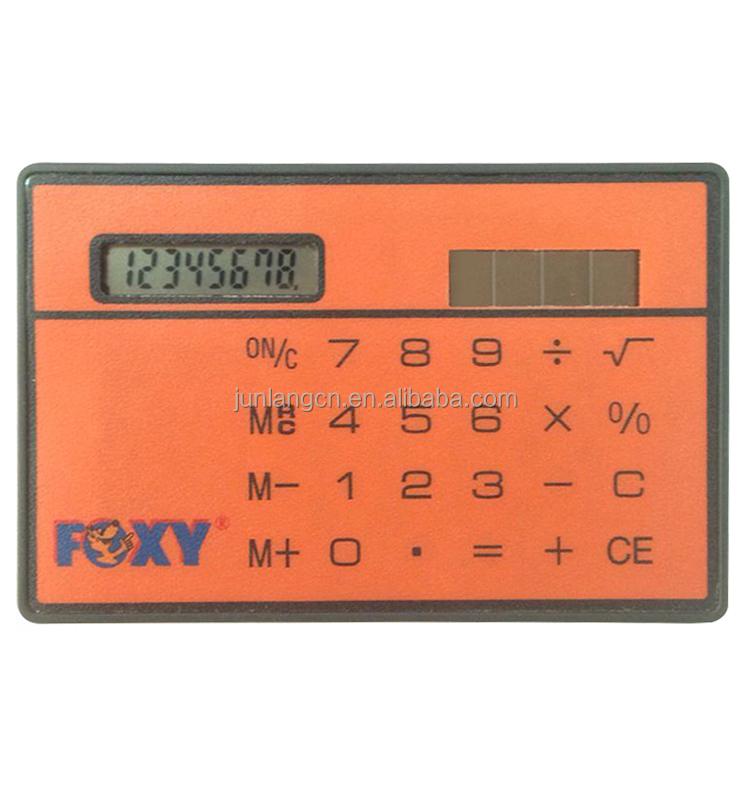 Mini Slim Card Solar Power Pocket Calculator, Mini Slim Card Solar ...