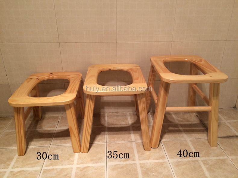 Solid Wood Furniture Chinese Bench Wooden Toilet Wc Sit Stool For ...
