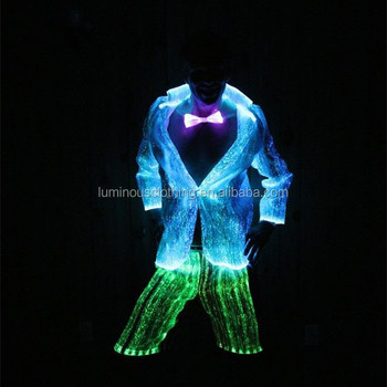 Luminous Mens Led Light Up Costume New Year's Suit