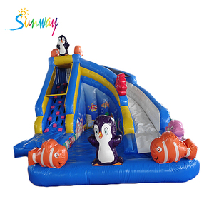 inflatable sea world water slide, giant inflatable water pool slide for summer, inflatable jumping slide for sale