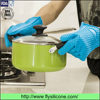 Extra Thick Heat Resistant Premium Grilling Oven Cooking Silicone Kitchen Gloves