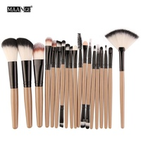 13 Years Professional Manufacturing MAANGE 18 pcs private label makeup brush set custom logo makeup brushes