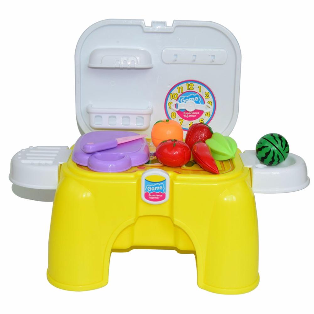 plstico silla de juguete de simulacin de cocina divertida