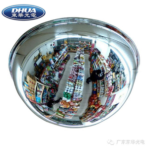 Dome plexiglass acrylic security convex mirror for eliminating blind spot