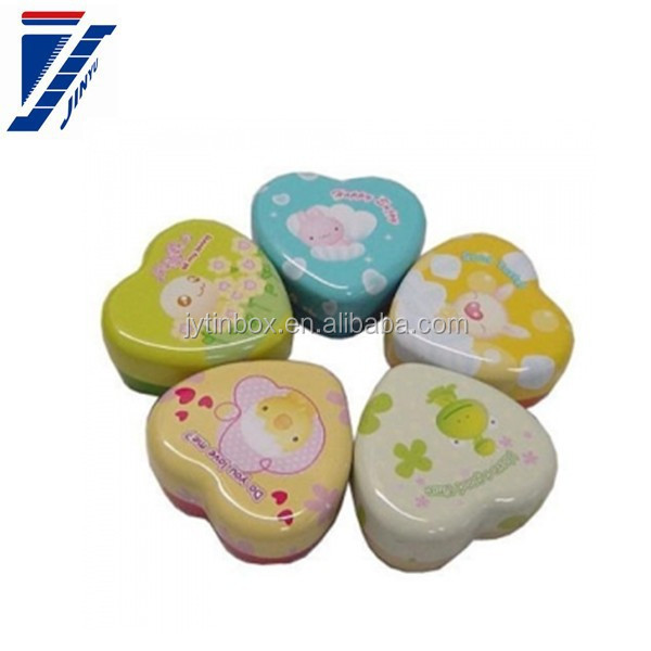 gift packaging tin Size many choose heart shape tin can