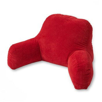 Home Fashions Red Bed Rest Pillow With Arms Read Pillow Ipad