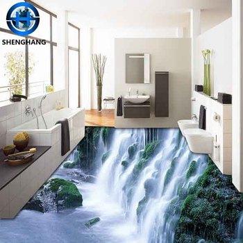 Die Wasserfall 3d Bild Fur Bad Boden Farbe Nie Verblassen Weg 3d Keramik Boden Fliesen Buy Wasserfall 3d Fliesen 3d Boden Fliesen 3d Keramik Boden