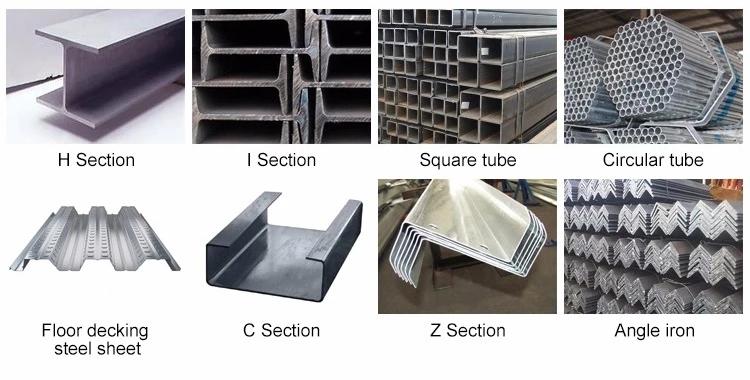 Prefabricated คลังสินค้าอาคารเหล็กโครงสร้างคลังสินค้าแผงแซนวิช