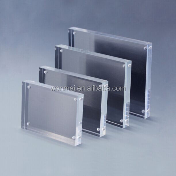 Oem Magnetic Acrylic Cube Photo Frame Set With Metal Back Buy