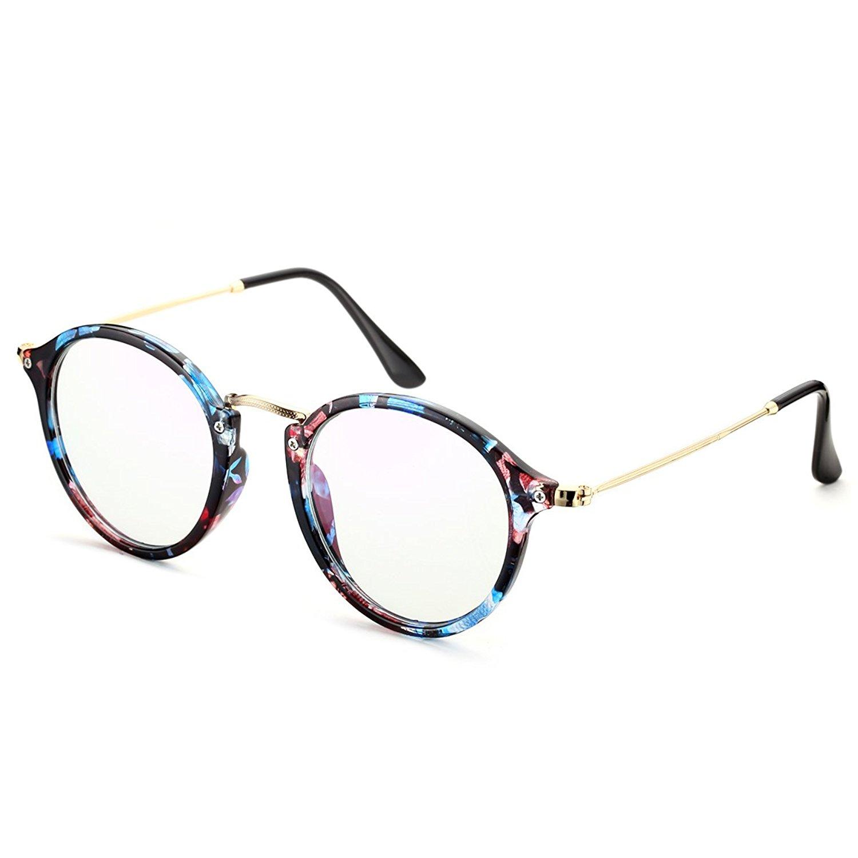 PenSee Vintage Inspired Round Circle Eyeglasses Clear Lens Glasses Frames