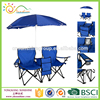 Folding Chair with Umbrella and Table, Double folding chair with 2 person