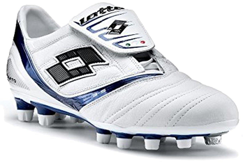 c96125191 Get Quotations · Lotto Vento Diablo KL Due FG Men's Soccer Shoes - White /  Olympic Blue
