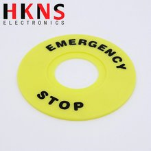 60mm Emergency stop label for 22mm Emergency stop pushbutton