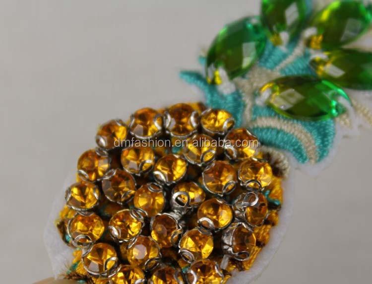 Nuovo prodotto di arrivo ananas applique lavoro disegni per i
