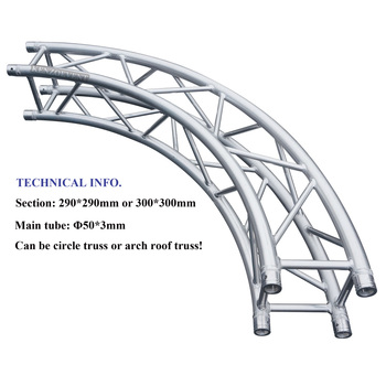 Stage Aluminum Curved Lighting Truss For Concert Cuved Product On Alibaba