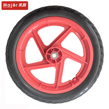 Manufacturer sells direct 14 inch PU foam wheel, 14X1.75 polyurethane wheel, trolley / wheelchair / mini bike wheel.