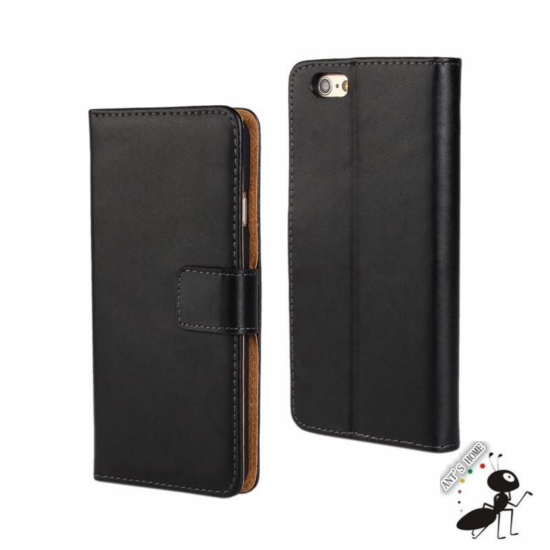 Deluxe Leather Wallet Case for Apple iPhone 6 4.7inch Fashion Mobile Phone Flip Leather Cover for iPhone 6 Case Phone Bag Shell
