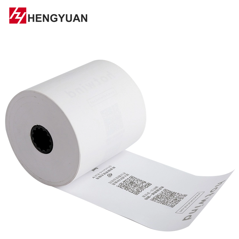 Customized logo ATM Printing Thermal Pre-printed Paper Rolls 80mmx200M For Kiosk System And Terminal