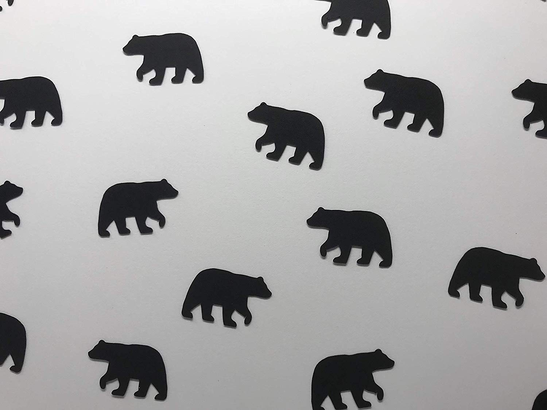 Brown Bear Confetti - Black Bear Confetti - Bear Decorations - Lumberjack Baby Shower - Lumberjack Birthday Party - Woodland Bear Confetti - 200 pieces