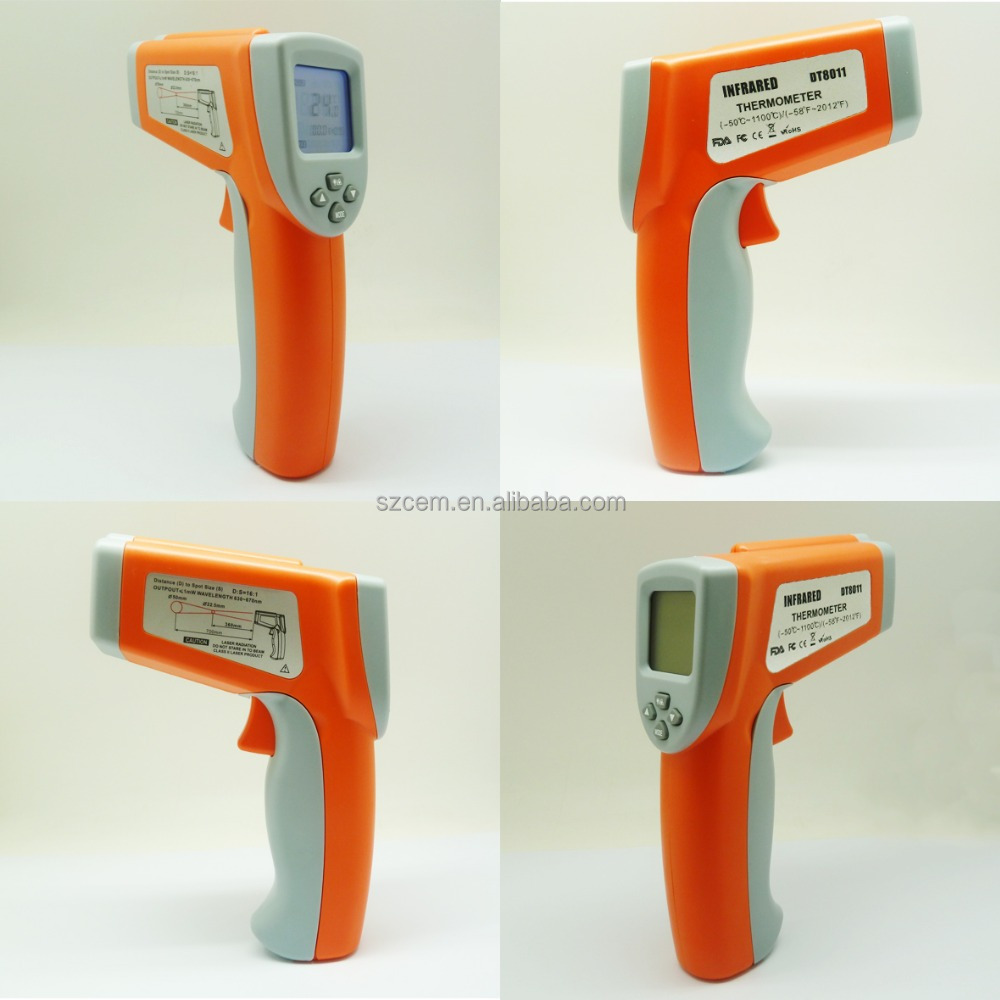 1100C celsius Cheerman digital Thermometer DT8011 function non contact Laser IR thermometer pyrometer high temperature gauge
