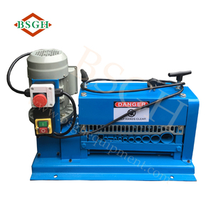best quality commercial using small aluminum wire cable stripping machine waste electric rubber wire skin crimp cut strip peel