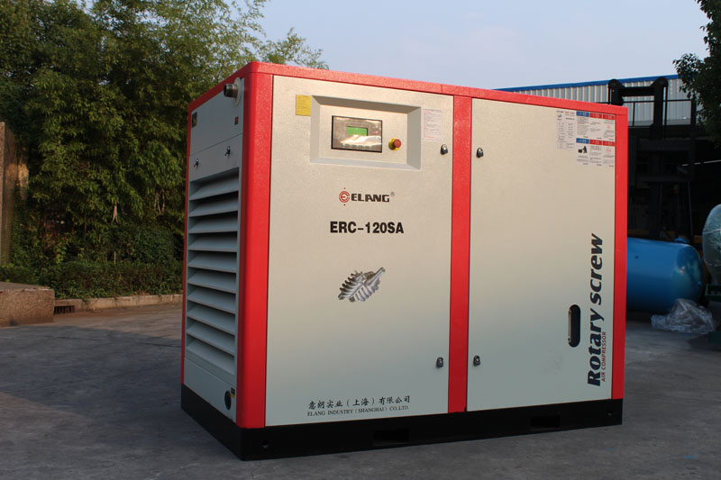 Elang low noise screw air compressor with air storage tank