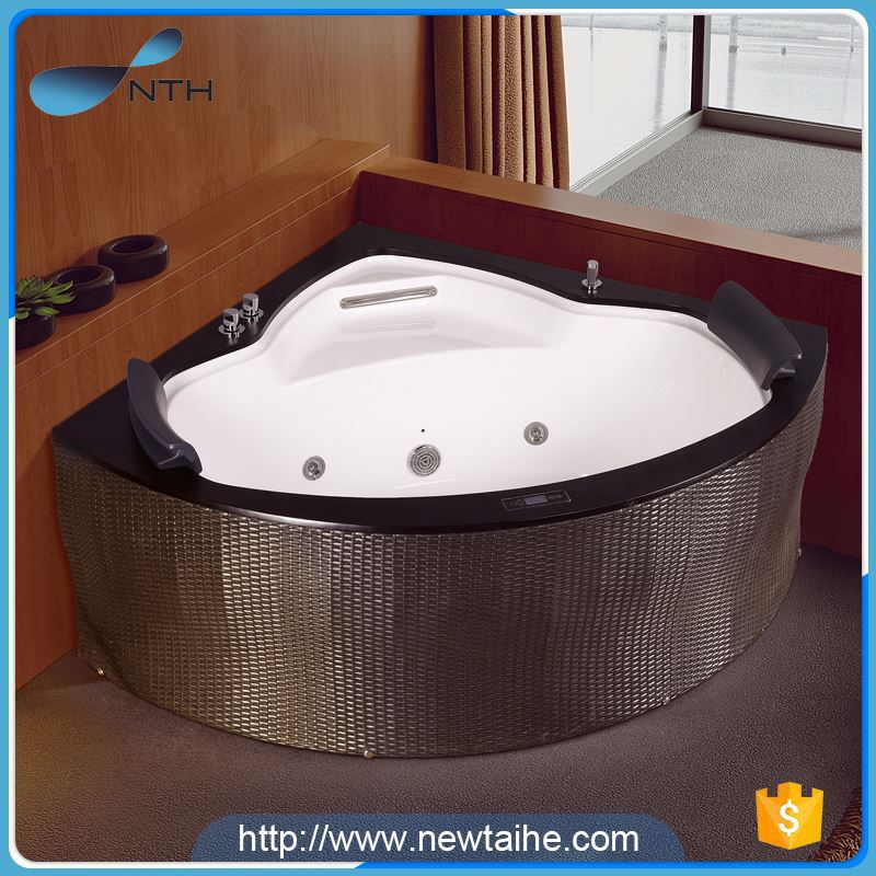 NTH most popular products fancy villa ivory man-made stone bathtub wholesale with massage jets