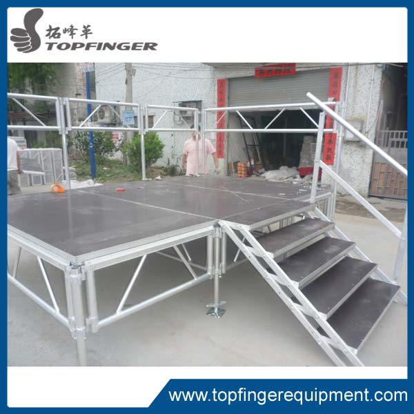 Exhibtion Entertainment Easy Assemble Dome Dj Exhibition Selling Diy Folding Portable Stage