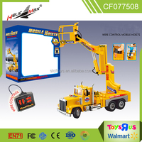 wholesale cheap large size wire control aerial work lift mobile hoist truck toys for kids
