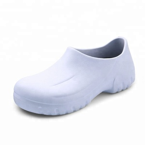 Anti slip white chef safety shoes hospital lab clean room work shoes