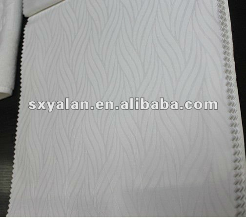 50% cotton 50% polyester white woven jacquard fabric combed cotton