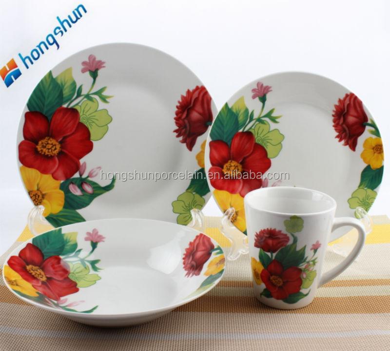 16pcs porcelain dinner set / indian serving dishes / dinnerware sets cheap & 16pcs Porcelain Dinner Set / Indian Serving Dishes / Dinnerware Sets ...